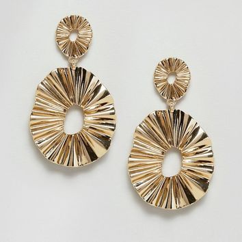 Monki Disc Earrings at asos.com