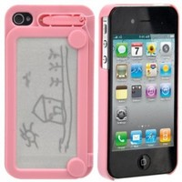 Magic Drawing Board Hard Protective Back Case Cover for iPhone 4 /iPhone 4S (Pink):Amazon:Cell Phones & Accessories