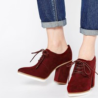 ASOS ON A ROLL Lace Up Heeled Shoes