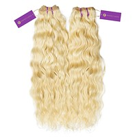2 x Curly Colored Machine Weft Bundle Deal