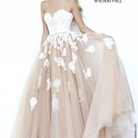 Sherri Hill 11200 Lace Ball Gown Prom Dress