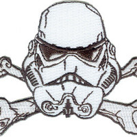 Star Wars Clone Stormtrooper X-Bones Embroidered Iron On Applique Patch