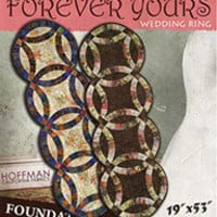 Quilt Pattern, Forever Yours Table Runner, Wedding Rings, Judy Niemeyer Quilting, foundation paper piecing
