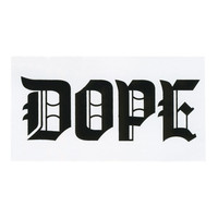 Dope Calligraphy Sticker White One Size For Men 24675815001