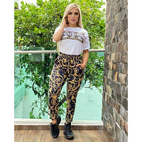 Versace Women With short sleeves Top Pants trousers Two-Piece