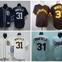 San Diego Padres 31 Dave Winfield Jersey 1978 1984 Cooperstown Coffee Dave Winfield Baseball Jerseys Grey White Pinstripe Pullover Cream