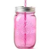 MASON DRINKING JAR IN PINK