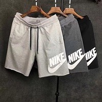 NIKE Tide brand men's sports loose casual pants five pants