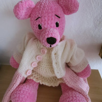 Teddy Bear Misia-Pysia/crocheted teddy bear toy/collectible decorative bear/decoration/OOAK/soft toy/gift/unique