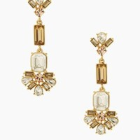 Kate Spade Crystal Arches Linear Earrings