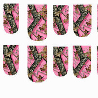 Pink Camo Nail Decals