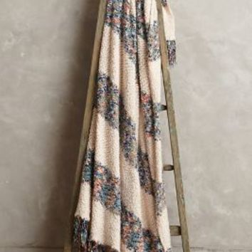 Confetti Throw by Anthropologie Ivory One Size Throws