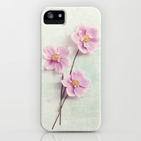 pink anemone iPhone & iPod Case by Sylvia Cook Photography