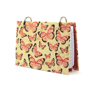 Index card binder laminated journal cover with butterfly kisses 337