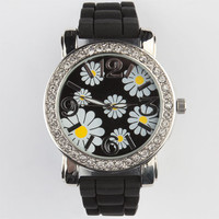 Daisy Rubber Watch Black One Size For Women 23913210001