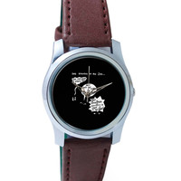 Zoo Animal Conversation During Earth Hour Wrist Watch