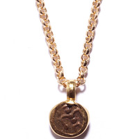 Travancore Southern India Gold Coin Necklace