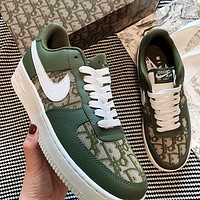 Dior x Nike Air Force 1 Print Contrast Shoes Women Men Trending Shoes