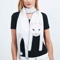 Cleo Ferin Mercury Cat Scarf in White - Urban Outfitters
