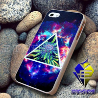 Hipster galaxy triangle WEED For iPhone Case Samsung Galaxy Case Ipad Case Ipod Case