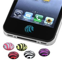 Amazon.com: eForCity 6 Pieces Home Button Sticker compatible with Apple® iPhone® / iPad® / iPod touch®, Zebra Patterns: MP3 Players & Accessories
