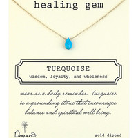 Jewelry & Accessories   Pendants    'Healing Gem' Turquoise Necklace