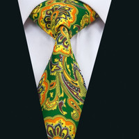 New Arrival Fashion Colorful Print Silk Men`s Silk Tie High Quality Design Necktie For Wedding Party