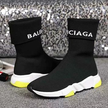 Balenciaga Woman Men Fashion Socks Boots Shoes