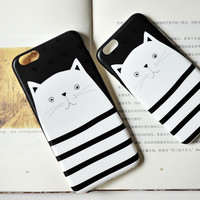 Cat Mobile Phone Case For Iphone 7 Se 6 6S 6Plus 6S Plus +Mobile Phone Metal Ring Bracket+Book+Nice Gift Box