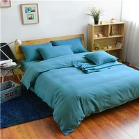 Solid Color 4Pcs Bed Linens Set Microfiber Sheet Set. Available in A Variety of Colors Set