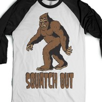 White/Black T-Shirt | Funny Bigfoot Shirts