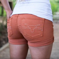Texas Longhorns Cuffed Shorts