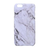Fashion Marble Stone Pattern Hard Phone Case Cover for iPhone 6 Plus (Grey)
