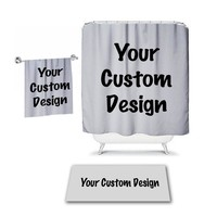 Your Custom Design SHOWER CURTAIN, MONOGRAM Personalized Bathroom Decor Pattern Bath Towel,  Bath Mat