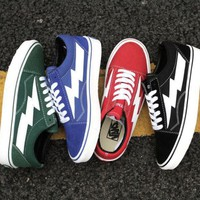 vans Lightning low belted canvas shoes