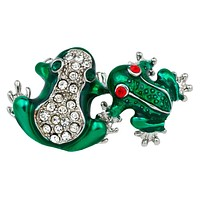 Silver Frogs Bar Pin