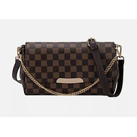 Chain Plaid Design Luxury Womens Fashion Shoulder Purse Pu Messenger Bag Handbag