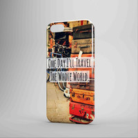 Travel Whole World Quote iPhone Case Samsung Galaxy Case NDR 3D