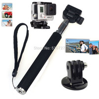 Gopro Accessories Extendable Handheld Alloy Selfie Monopod Stick with Tripod Mount Adapter for Go Pro HD Hero1 2 3 3+ 4 Carmera