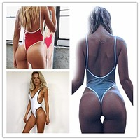 Sexy Thong High Cut Swimsuit
