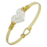 Gold and Silver Heart Bangle