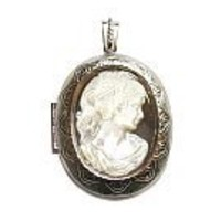 Mother of pearl cameo locket (40x45mm)