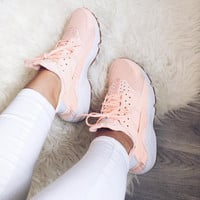 Nike Air Huarache Pink Fashion Women Casual Running Sport Shoes