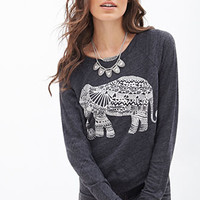 Elephant Graphic Knit Top