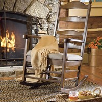 All-Wood Emilee Shaker Rocker With Upholstered Chair Pad - Plow & Hearth