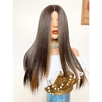 "CHOCOLATTE' Lace Closure wig 22"" long hair *Natural layers + Rotating parting ' FABULOUS *1020"