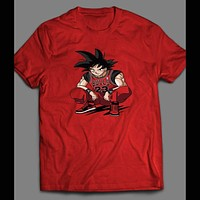 DRAGON BALL Z GOKU WEARING MICHAEL JORDANS ART SHIRT