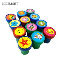 12PCS Self ink stamp kids birthday party gift baby shower girl boy party favor souvenir school rewards pinata filler Christmas