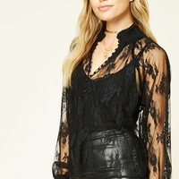 Contemporary Sheer Lace Top