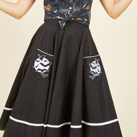 Fortune Favors the Cave Midi Skirt | Mod Retro Vintage Skirts | ModCloth.com